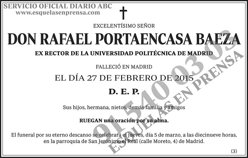 Rafael Portaencasa Baeza